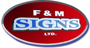 F and M Signs Logo